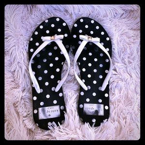 Kate Spade Polka Dot Flip Flops